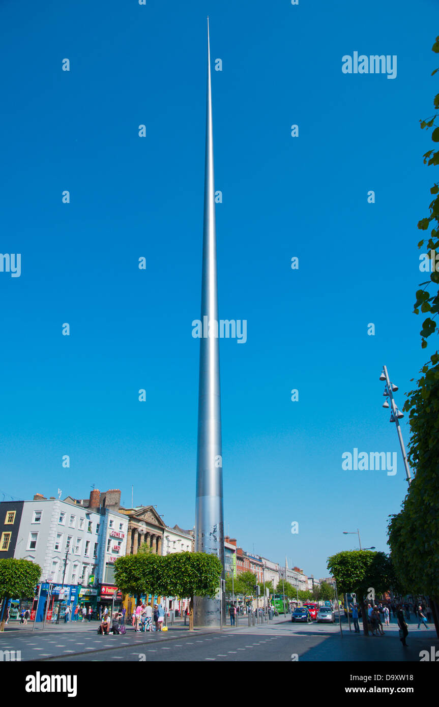 The Spire (2003) O'Connell street central Dublin Ireland Europe - Stock Image