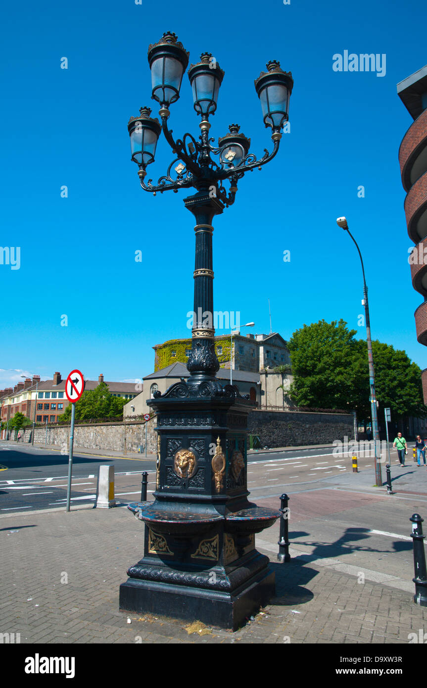 Five Lamps (1870) along Killarney street Dublin Ireland Europe - Stock Image