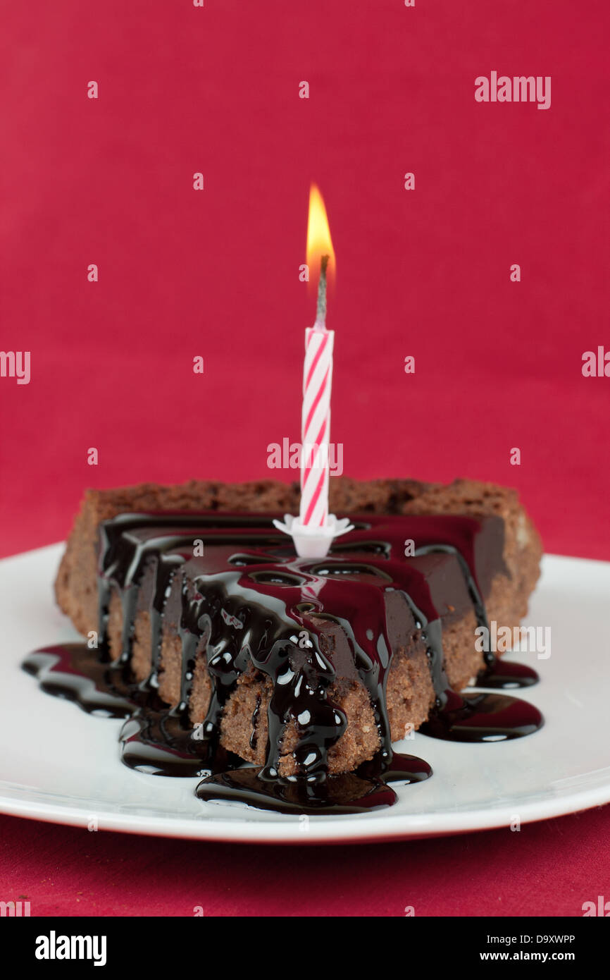 Chocolate Desserts With Birthday Candle
