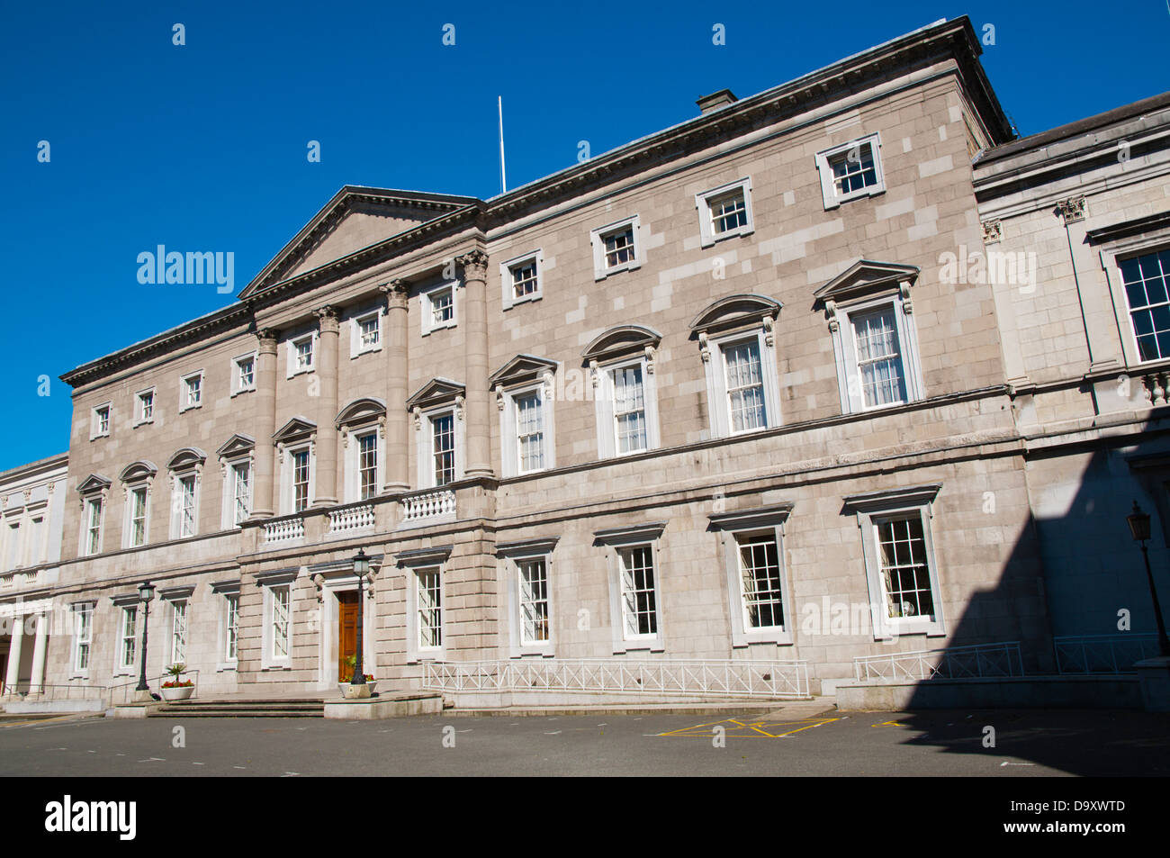 Leinster House (1745) Georgian building housing national parliament Kildare Street central Dublin Ireland Europe - Stock Image
