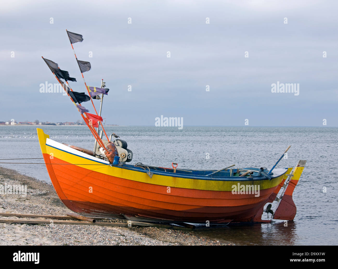 Fisher boat - Stock Image