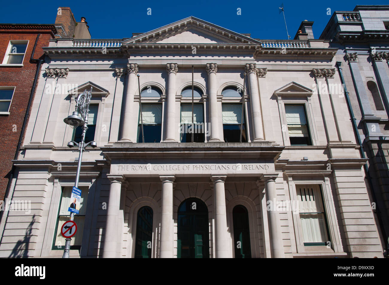 The Royal College of Physicians of Ireland building Kildare Street central Dublin Ireland Europe - Stock Image