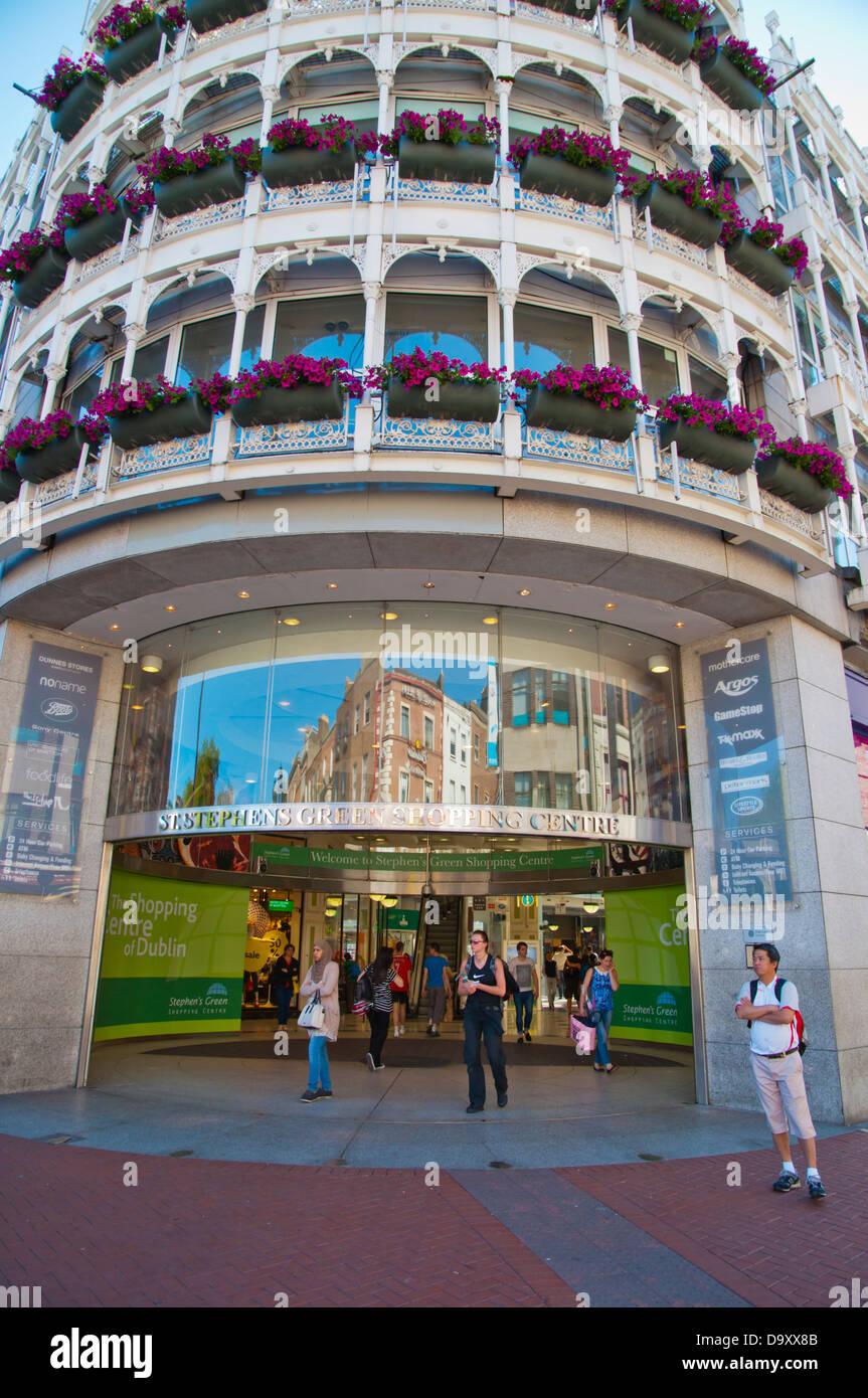 St Stephen's Green Shopping Centre exterior central Dublin Ireland Europe - Stock Image