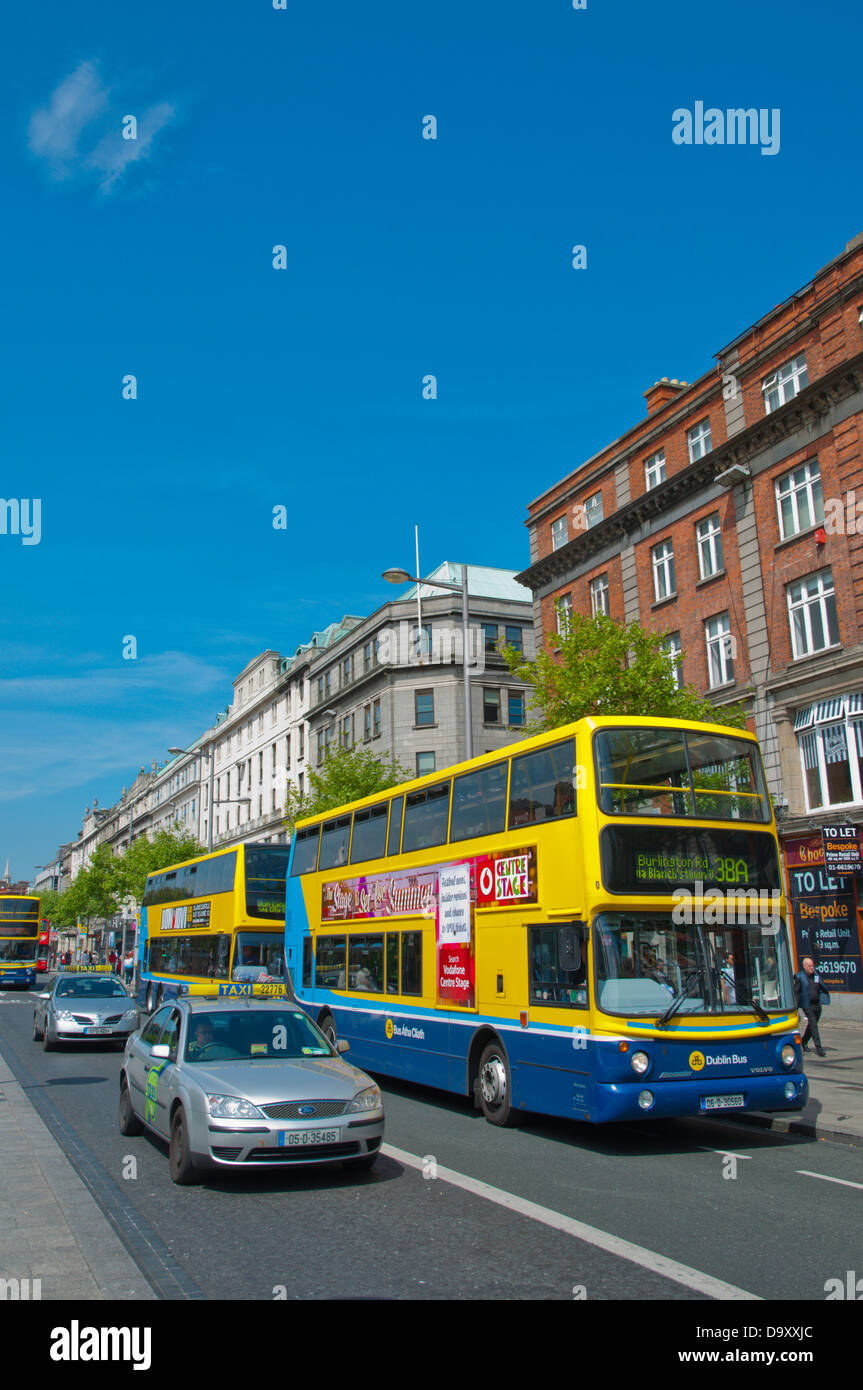 O'Connell street central Dublin Ireland Europe - Stock Image