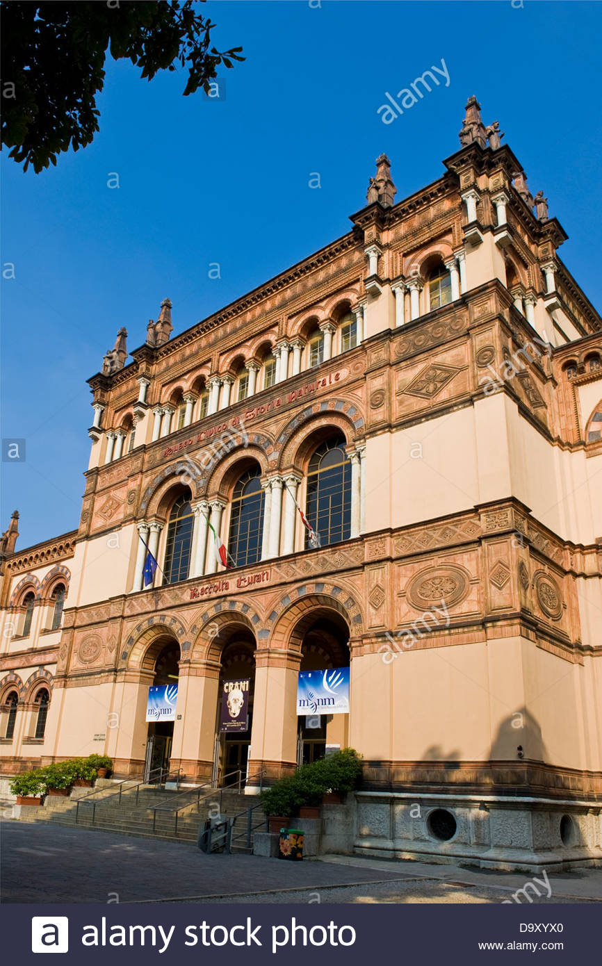 Museum of natural history,Milan,Lombardy,Italy - Stock Image
