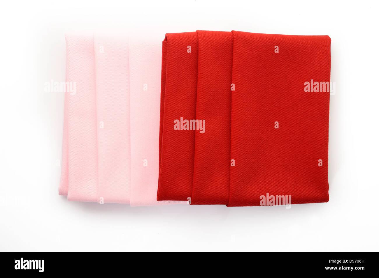 napkin on white background - Stock Image