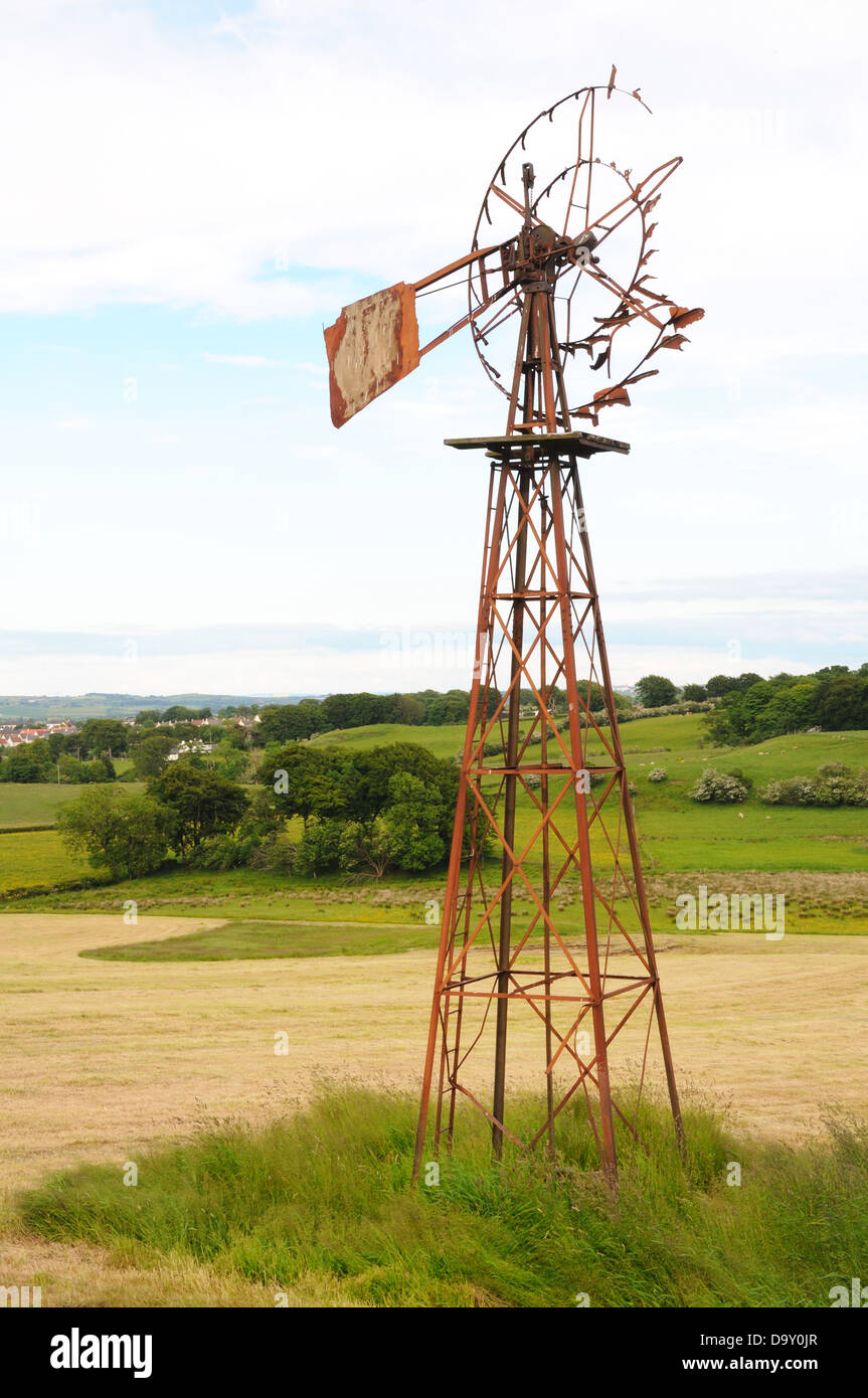 broken wind powered water pump stock photo 57756239 alamy