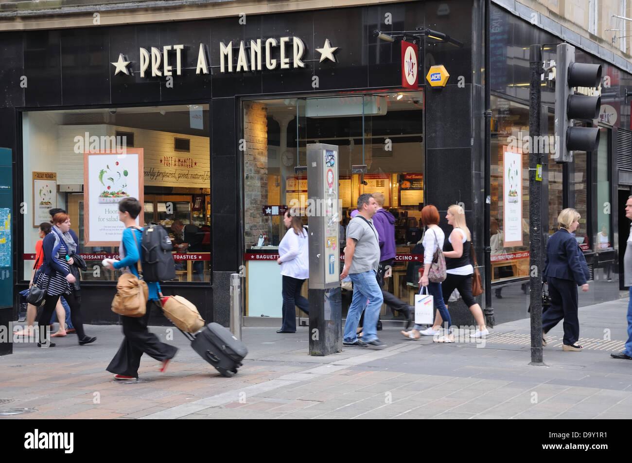 Pret a manger food shop in Gordon Street, Glasgow, Scotland, UK - Stock Image