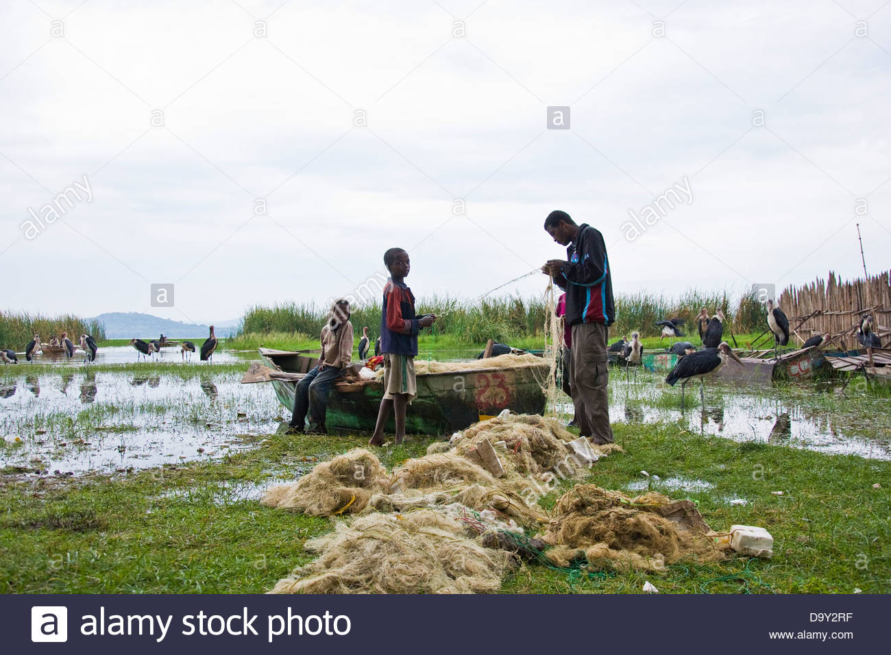 Fish market,Awasa,Ethiopia - Stock Image