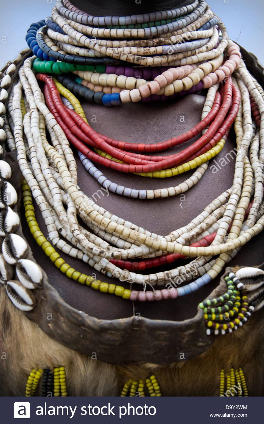 Karo tribe,Qercio,Ethiopia - Stock Image
