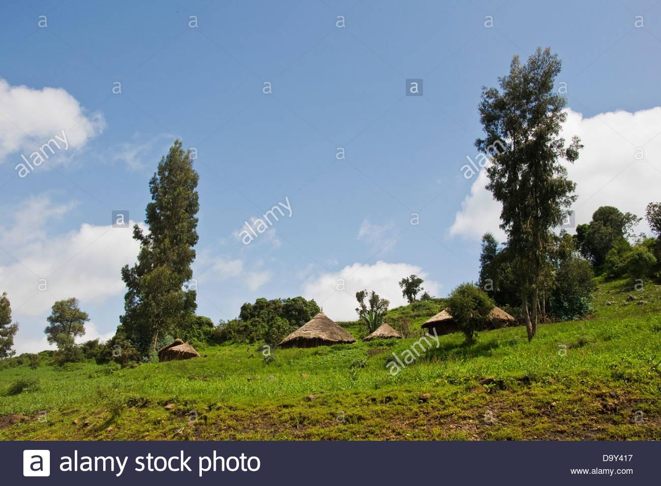 Landscape,Bale plateau,Ethiopia - Stock Image