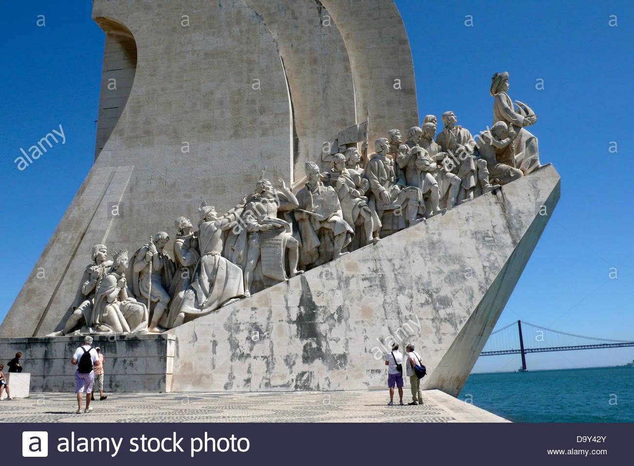 Padrao dos Descobrimentos,Lisbon,Portugal - Stock Image
