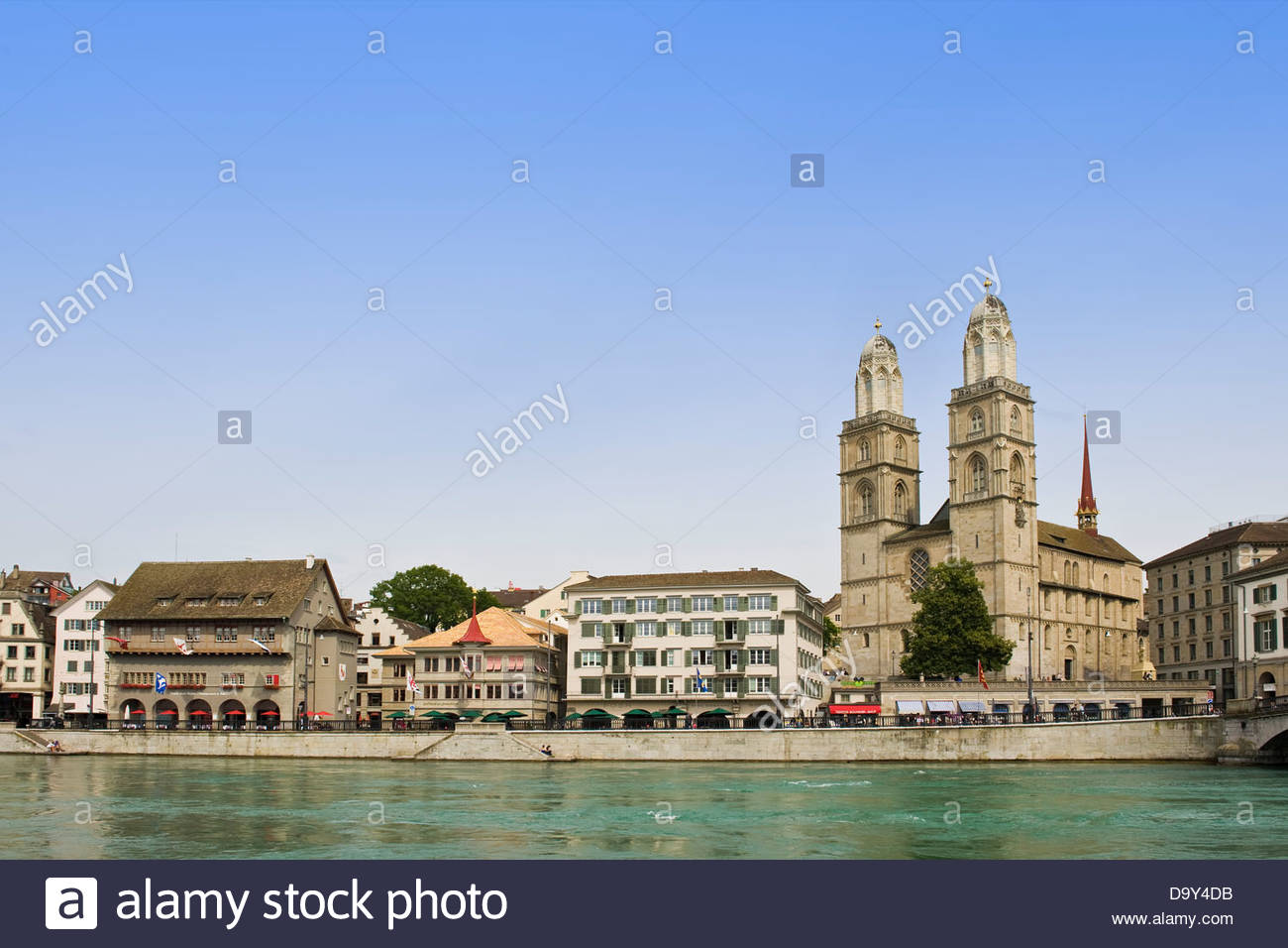 Grossmunster church,Zurich,Switzerland - Stock Image