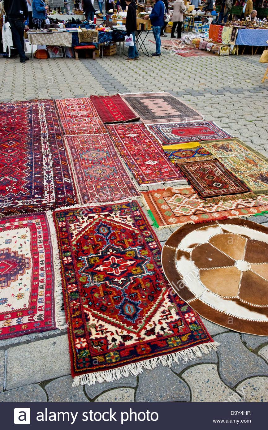 Carpets,Lausanne,Switzerland - Stock Image