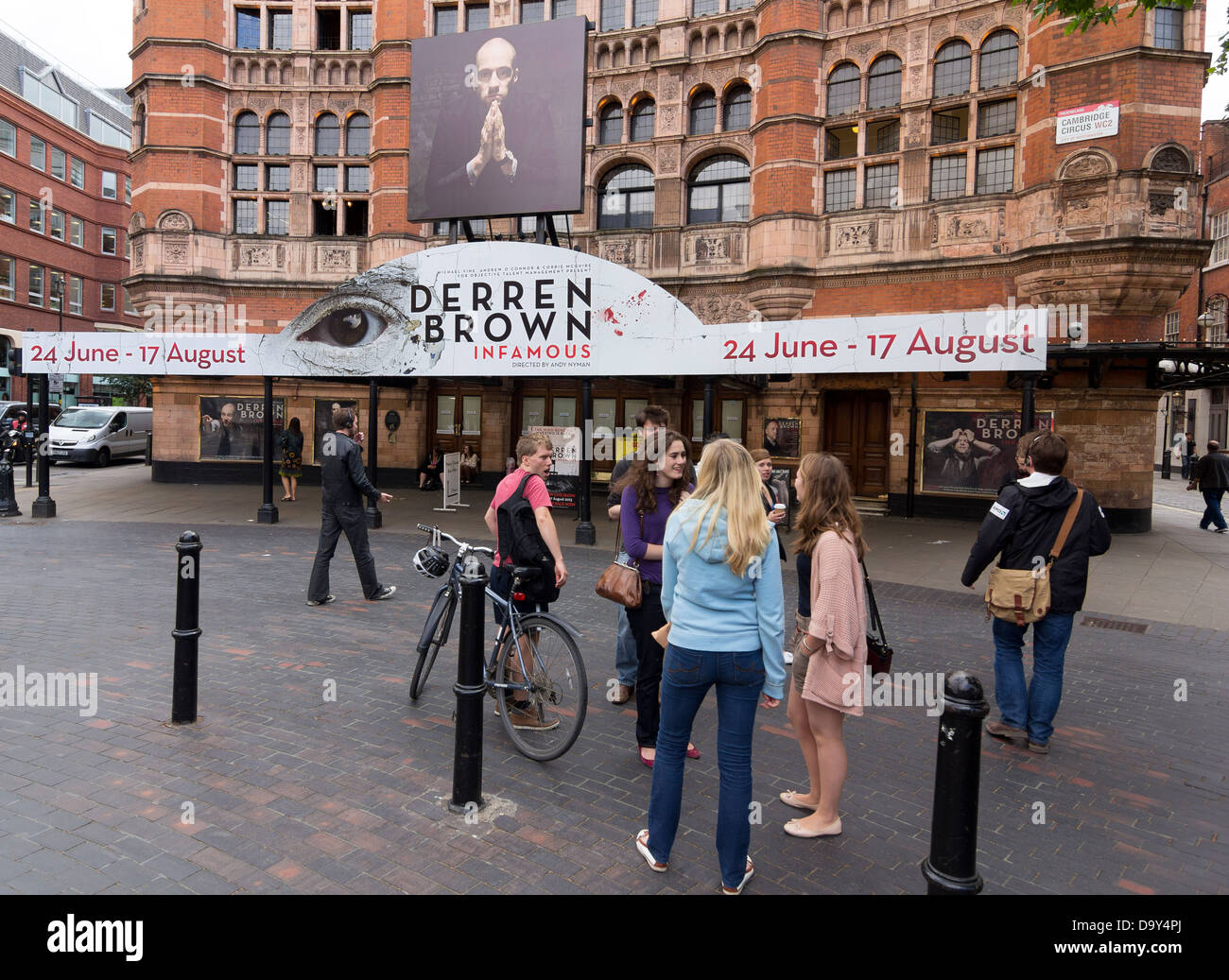 Palace Theatre, London - Derren Brown show - Infamous - Stock Image