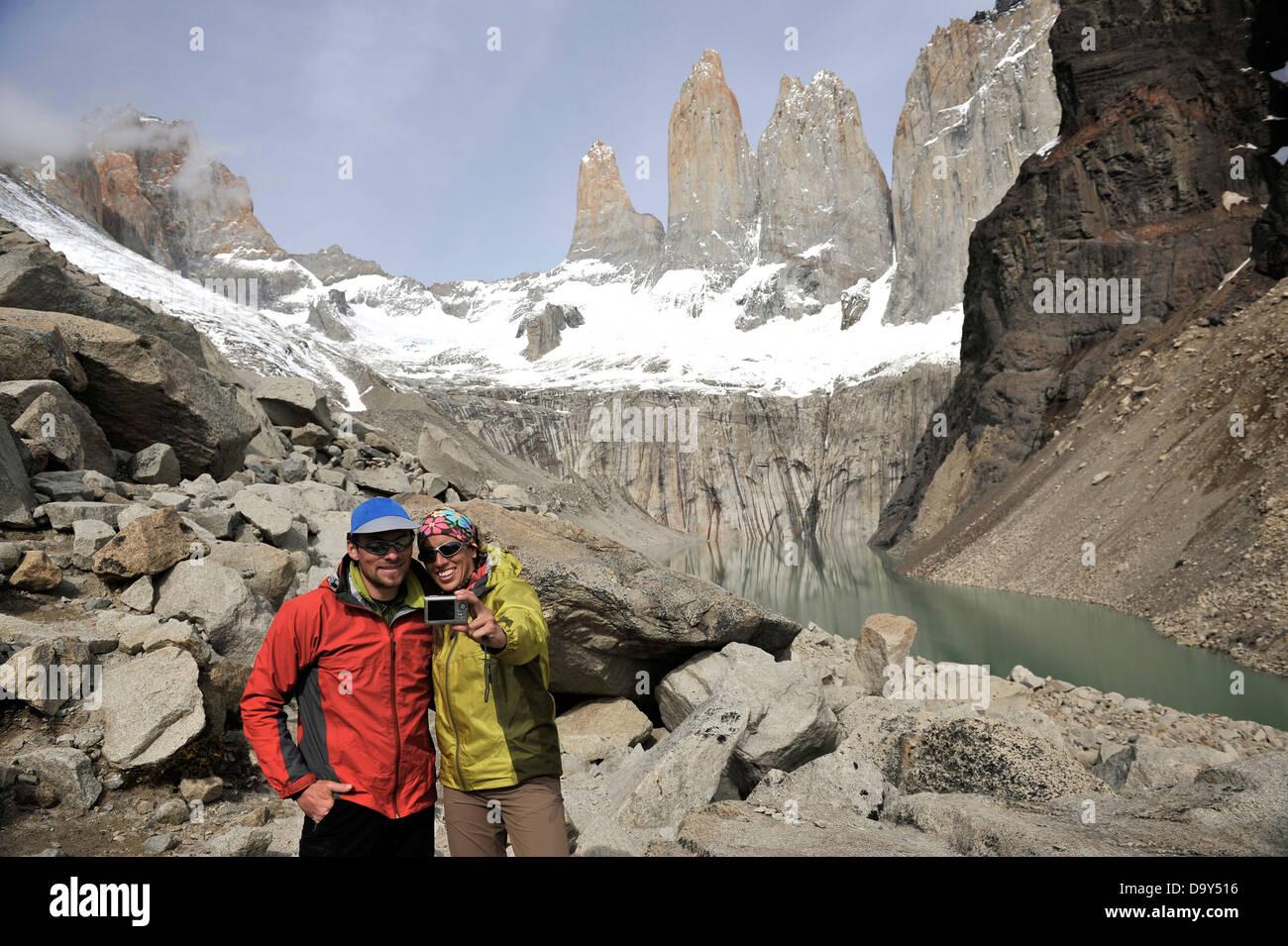 Trekking Chile. - Stock Image