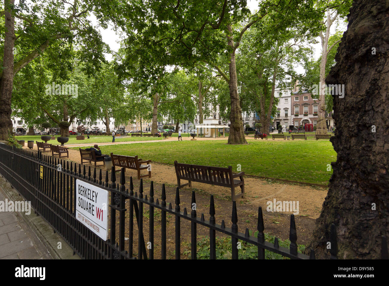 Berkeley Square, Mayfair, London - Stock Image