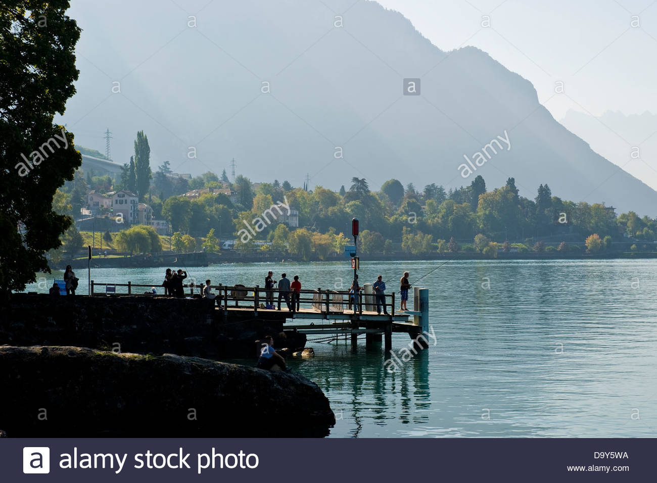 Leman lake,Montreux,Switzerland Stock Photo