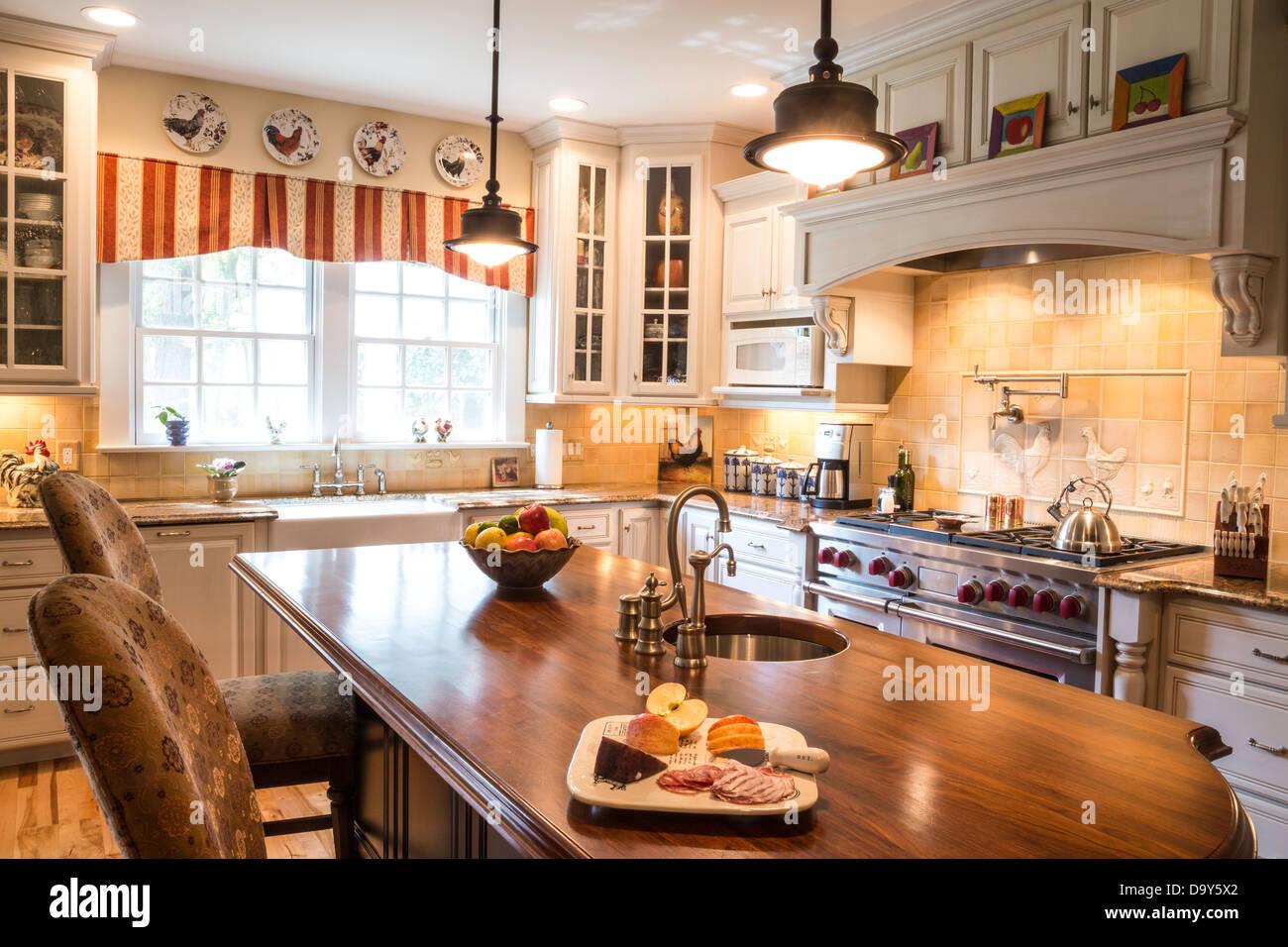 Showcase Luxury Modern Residential Kitchen, USA