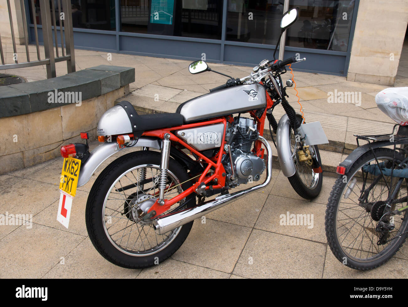 A 125cc Motor Bike In The Style Of A 1960 S Cafe Racer A Sky Team Stock Photo Alamy