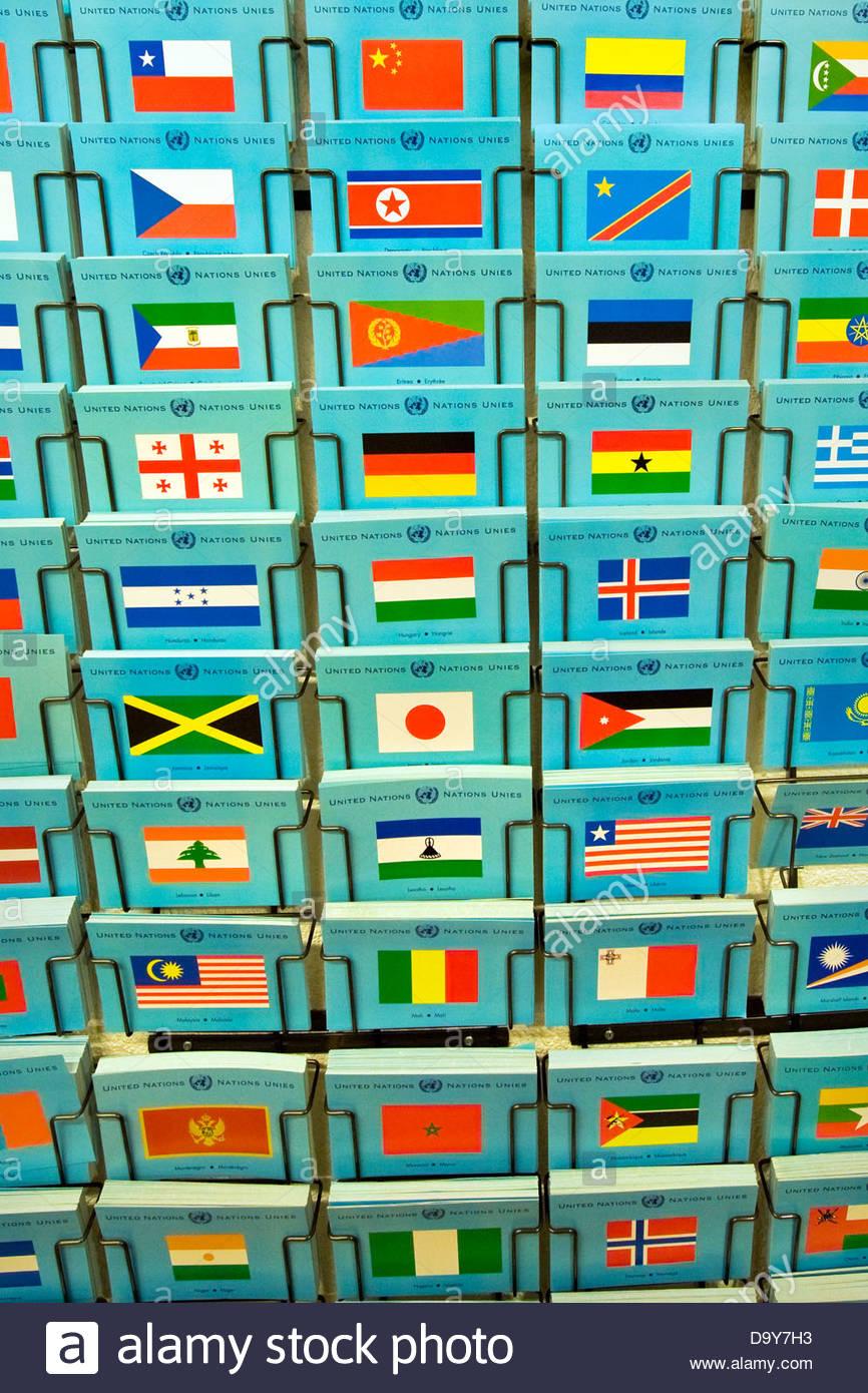 Postcards,United Nations,Geneva,Switzerland - Stock Image