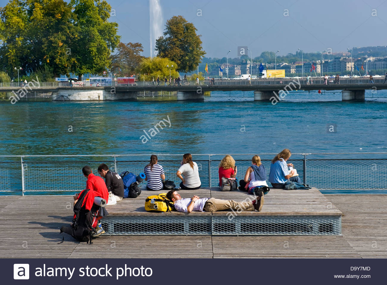 Lake Leman,Geneva,Switzerland - Stock Image