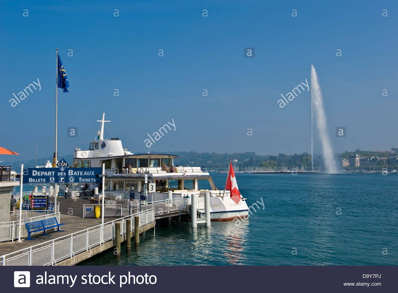Leman lake,Geneva,Switzerland - Stock Image