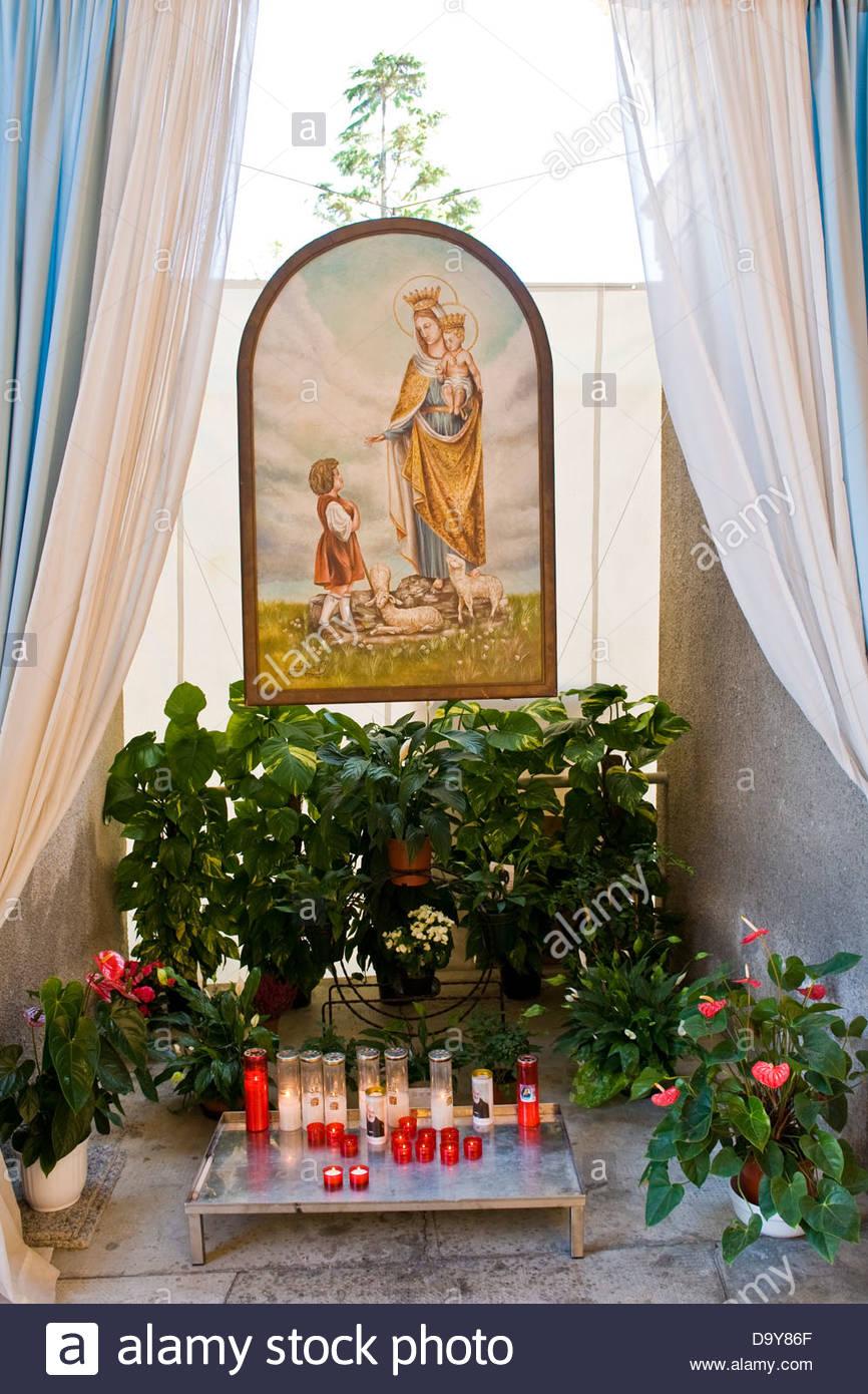 Shrine of Our Lady of the Snows,Santuario della Madonna delle nevi,Adro,Franciacorta,Lombardy,Italy - Stock Image