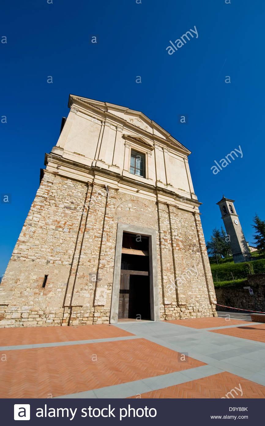 Parish of St. Vital,Borgonato,Franciacorta,Lombardy,Italy - Stock Image