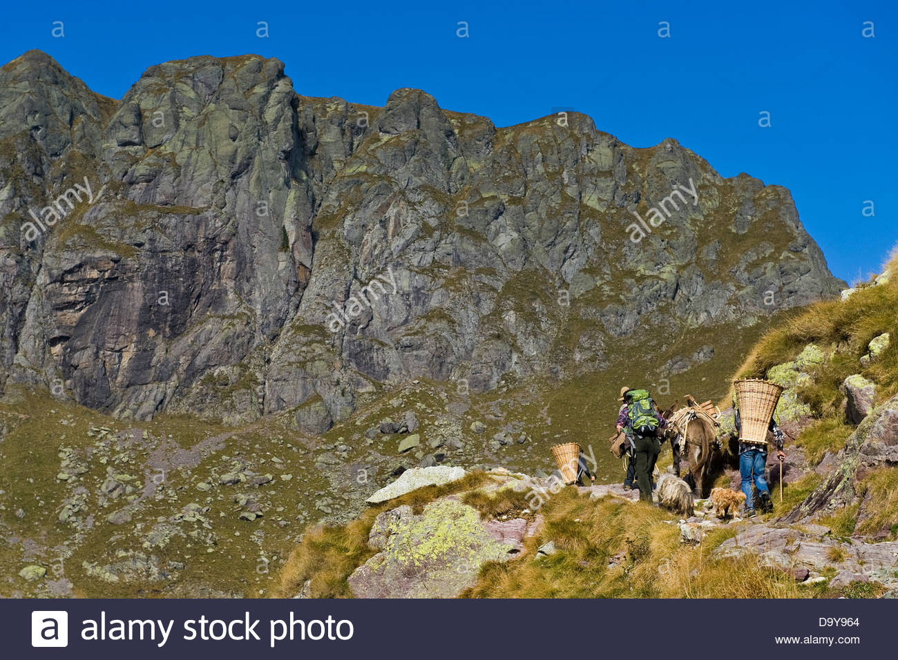 The rebels in the mountains,Brembana valley,Lombardy,Italy - Stock Image