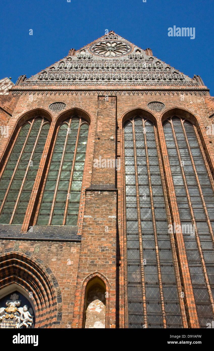 Europe, Germany, Mecklenburg-Western Pomerania, Wismar, St. Nicholas Church - Stock Image