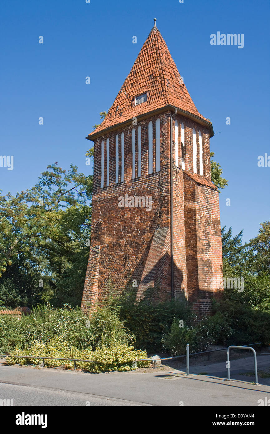 Europe, Germany, Mecklenburg-Western Pomerania, Wismar, The Old Water Tower - Stock Image