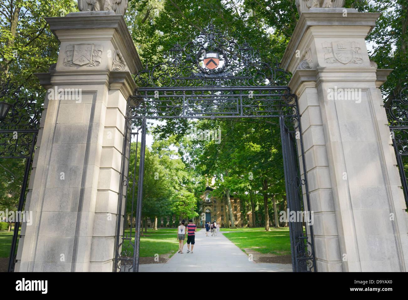 Princeton University, front gate - Stock Image