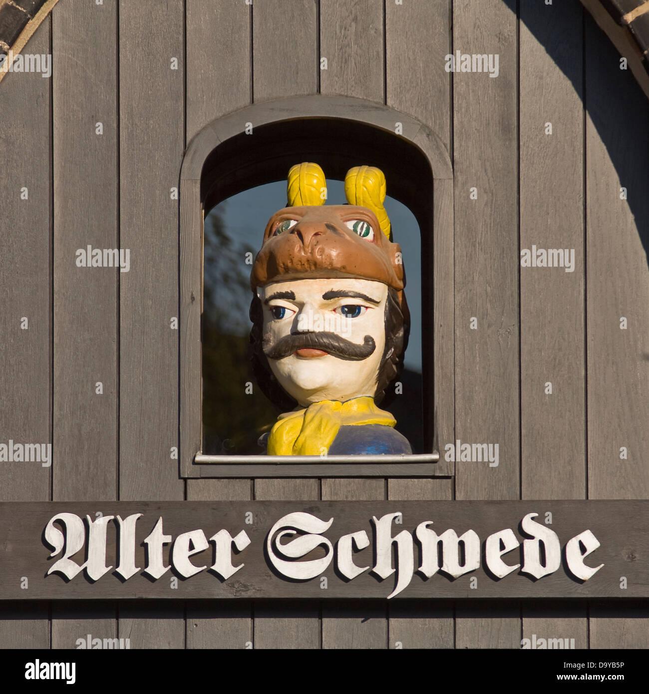 Europe, Germany, Mecklenburg-Western Pomerania, Wismar, Alter Schwede - Stock Image