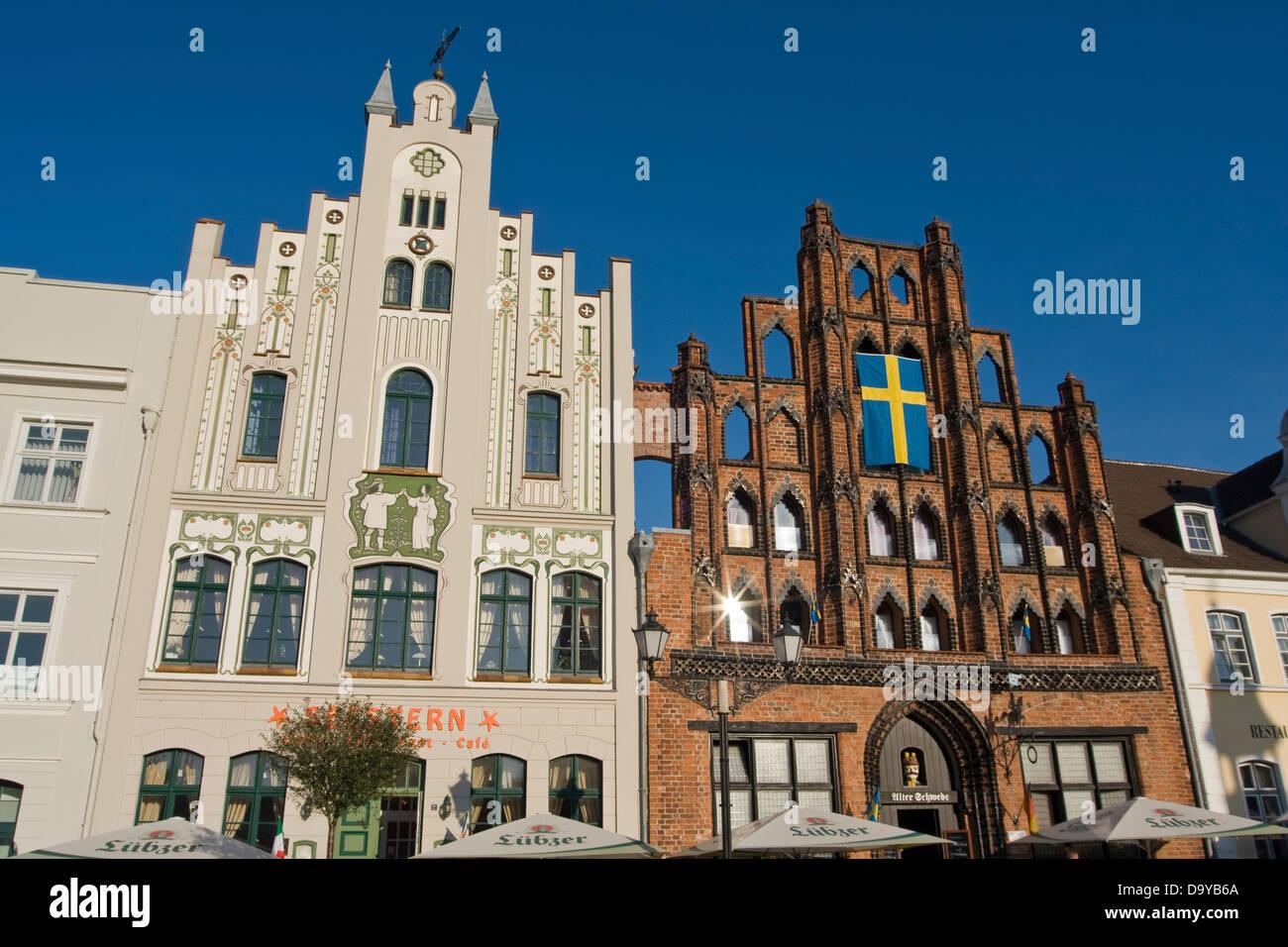 Europa, Deutschland, Mecklenburg-Vorpommern,historic old town - Stock Image