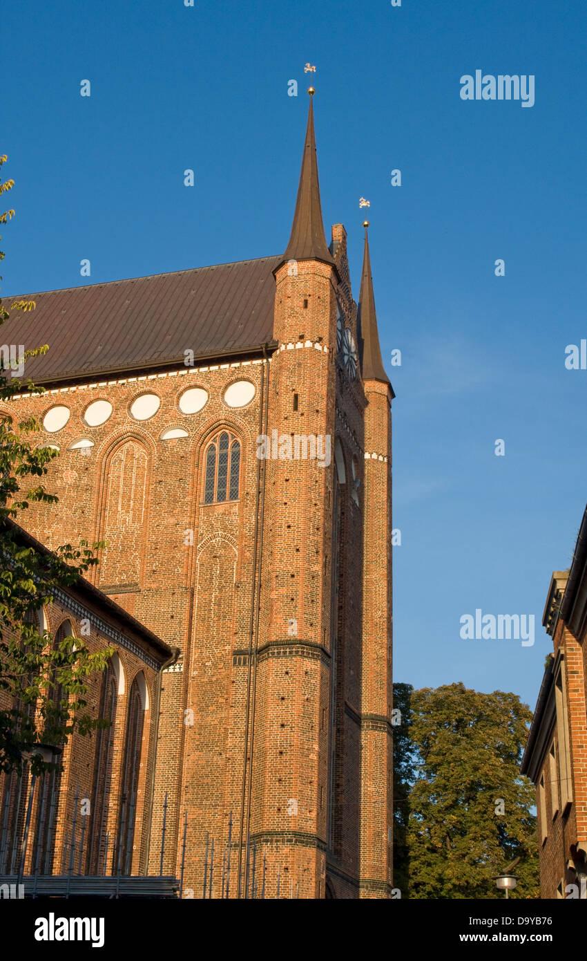 Europe, Germany, Mecklenburg-Western Pomerania, Wismar, St. Georgen church - Stock Image
