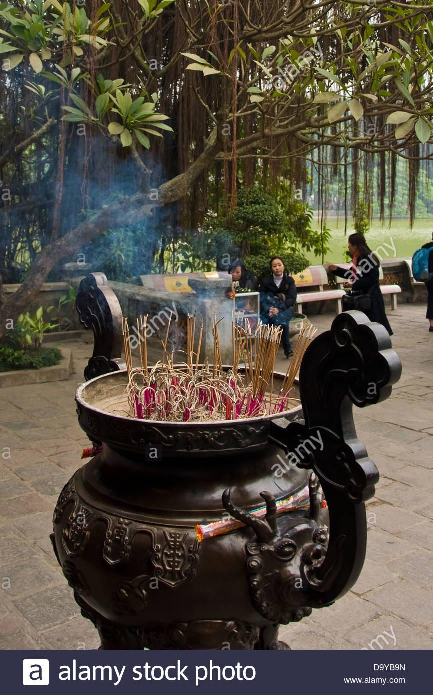 Den Ngoc Son,Jade mountain temple,Buddhist temple,Hanoi,Vietnam - Stock Image
