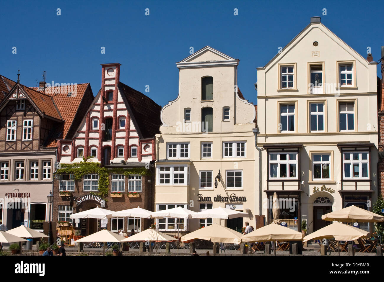 Europe, Germany, Lower Saxony, Lueneburg, Am Stintmarkt - Stock Image