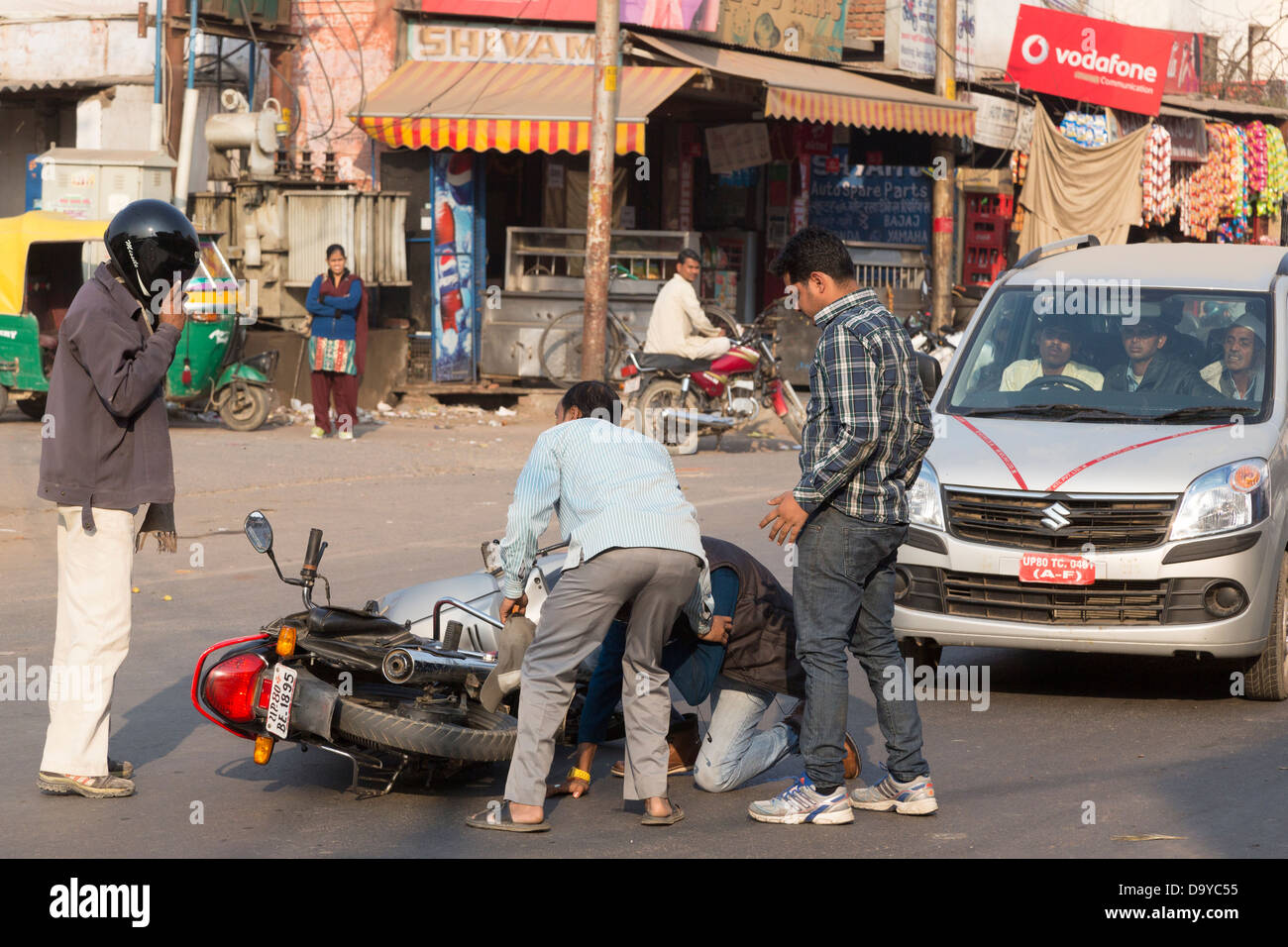 india road accident stock photos & india road accident stock images