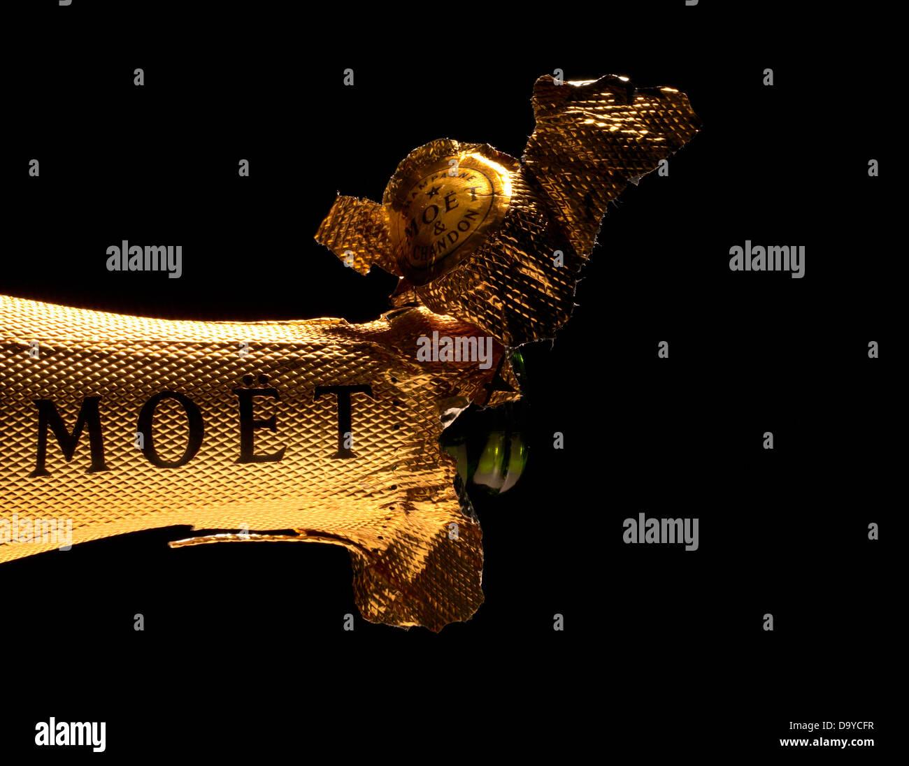 Moët Champagne Foil - Stock Image