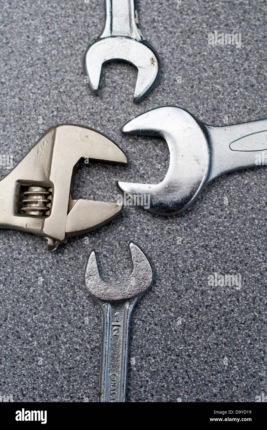 Abstract of four spanners - Stock Image