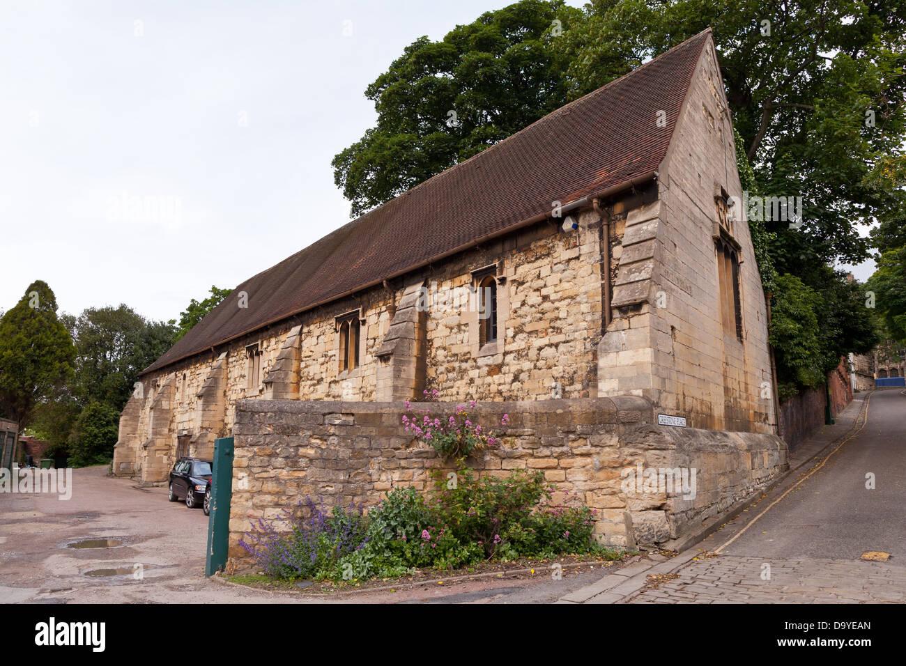 Lincoln - Tithe barn; Lincoln, Lincolnshire, UK, Europe - Stock Image