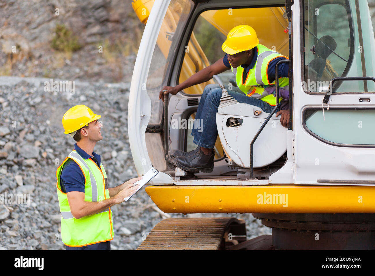African Construction Equipment Machine Stock Photos