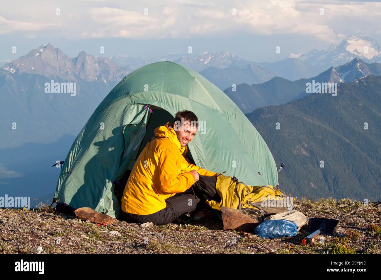 Hike to Silvertip Mountain - Stock Image