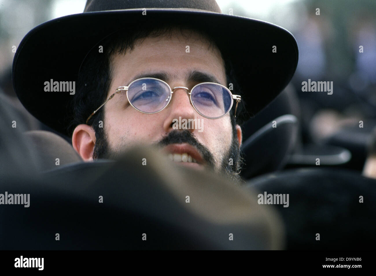 An Ultra Orthodox religious Jew in Israel Stock Photo