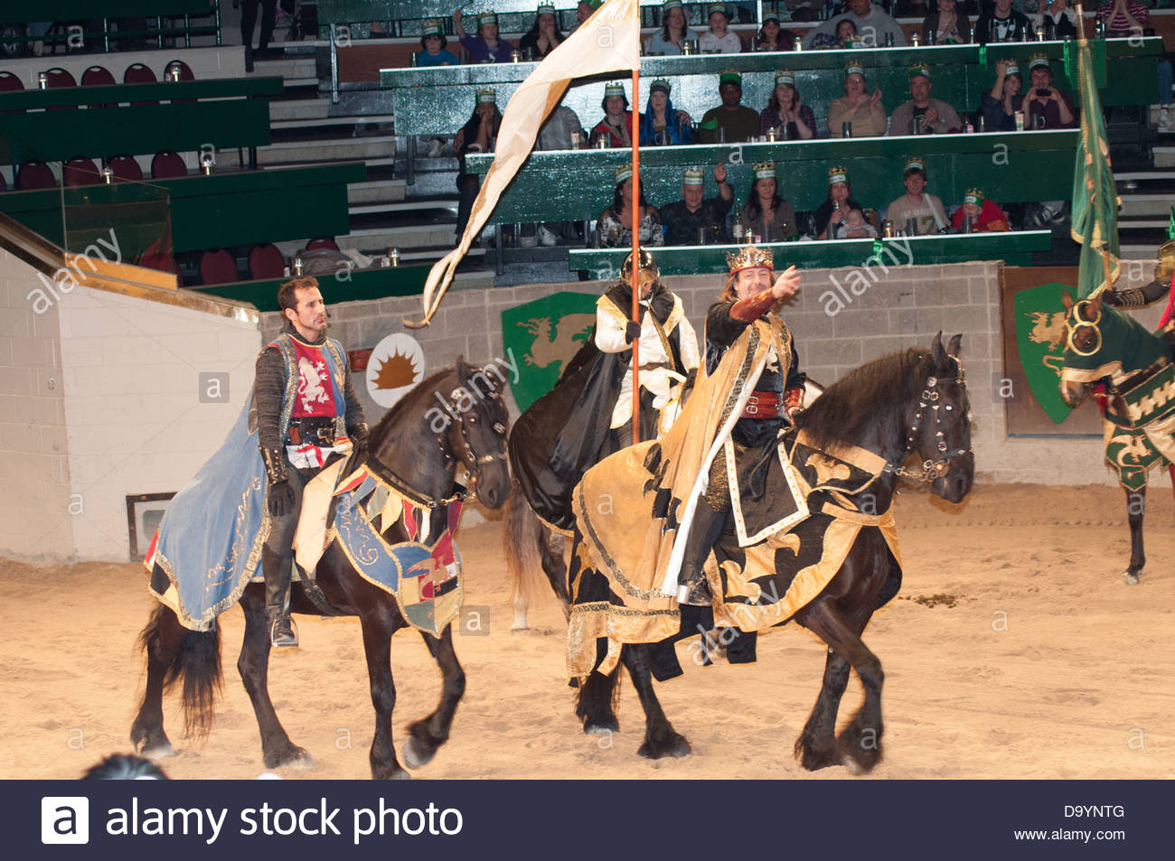 View of the Medieval Times Restaurant Tournament - Stock Image