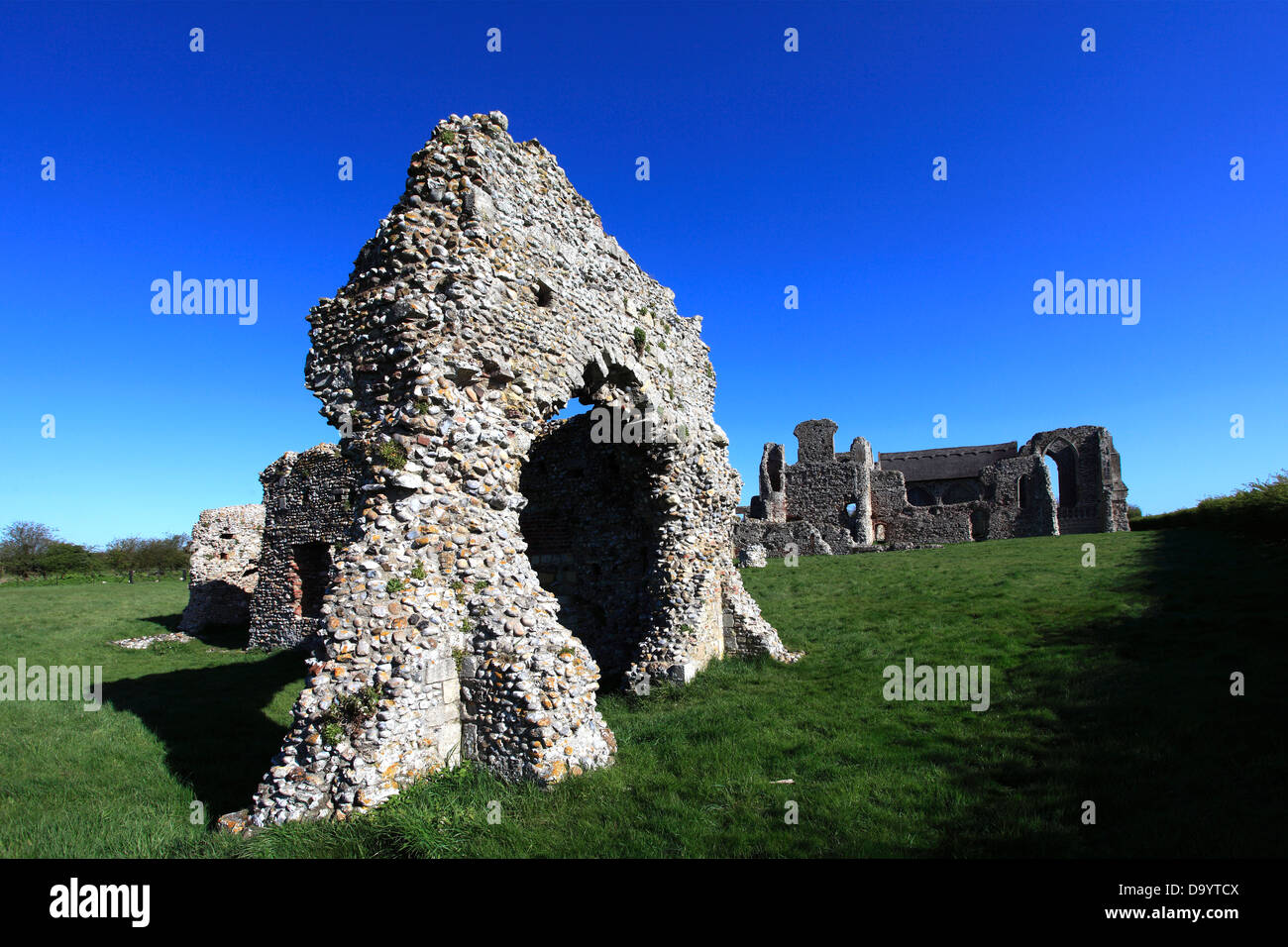 The ruins of Leiston Abbey near Aldeburgh in Suffolk County, England, Britain - Stock Image