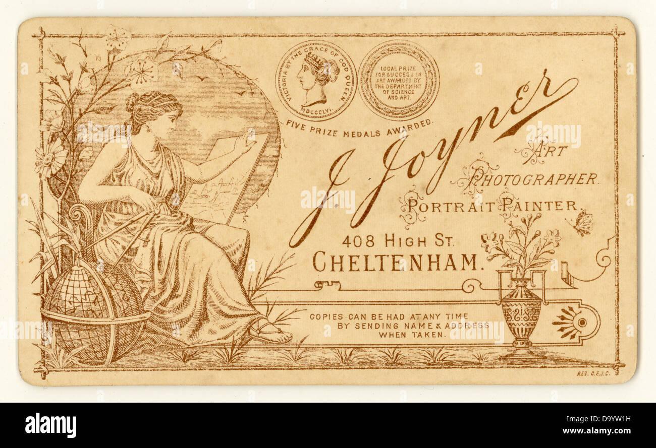 Reverse Of Victorian Cartes De Visite 1890s UK