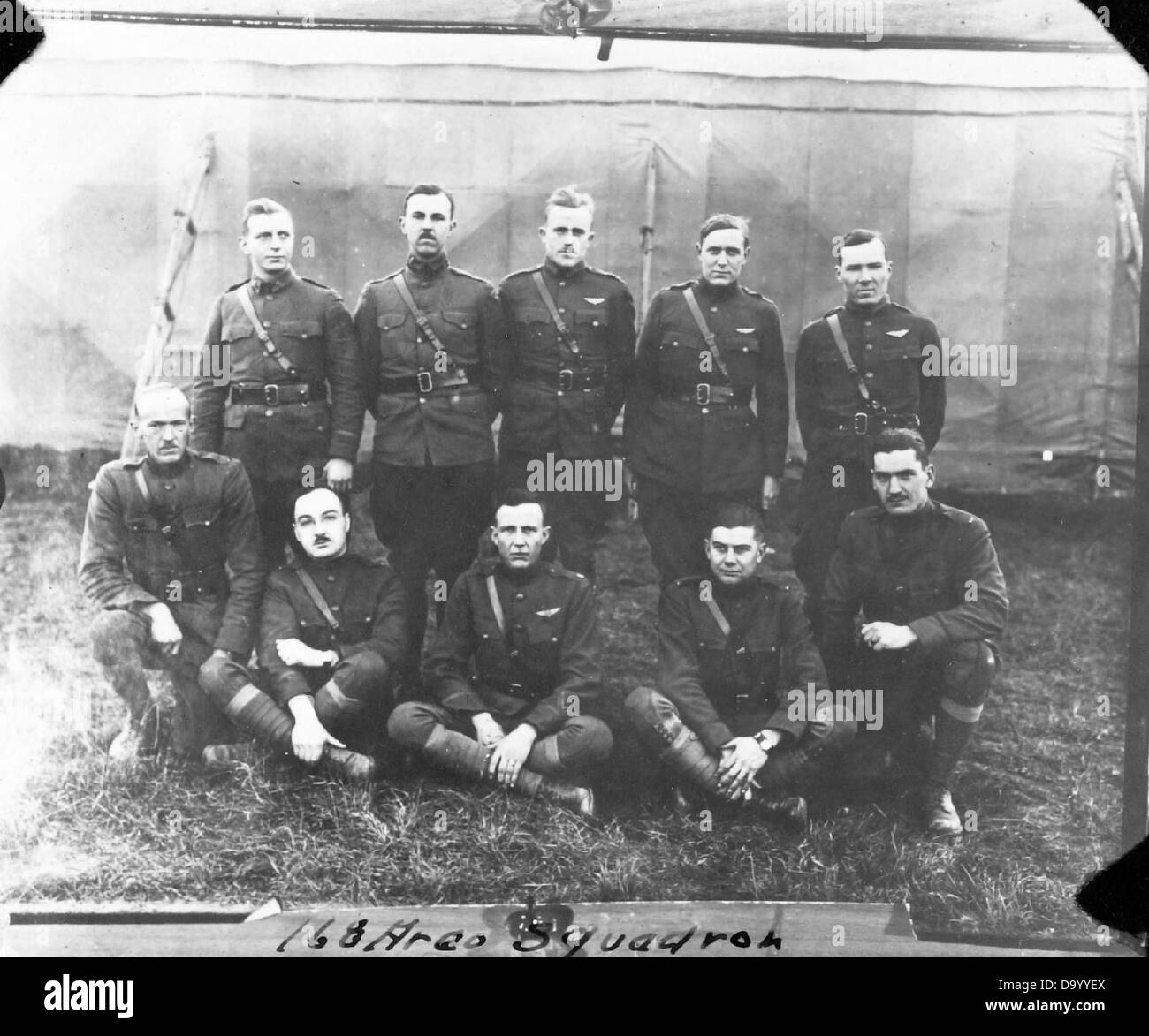 168th Aero Squadron-Pilots - Stock Image