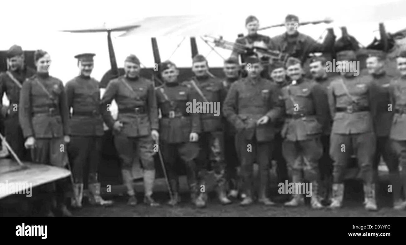 185th Aero Squadron - Group - Stock Image